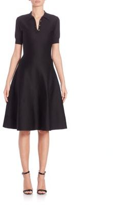 Ralph Lauren Collection Short Sleeve Fit-&-Flare Silk Polo Dress $1,490 thestylecure.com