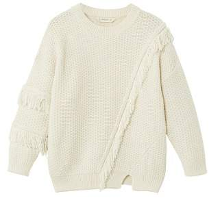 MANGO Fringes knit sweater