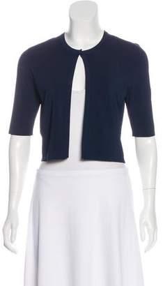 Lela Rose Short Sleeve Knit Cardigan