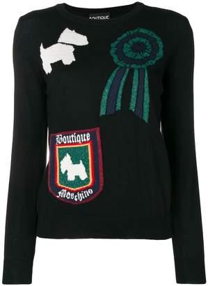 Moschino dog print jumper