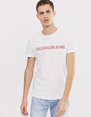 Calvin Klein Jeans institutional logo t-shirt white