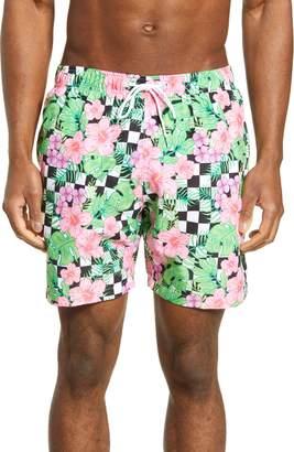 360c994b89 Trunks Boardies Checkerboard Floral Print Swim