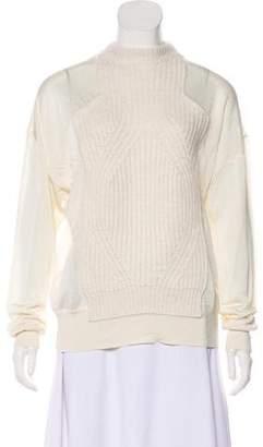 Alexander Wang Rib Knit Wool-Blend Sweater