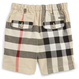 Burberry Sean Check Print Shorts