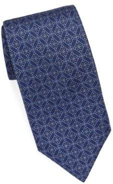 Brioni Diamond Medallion Silk Tie