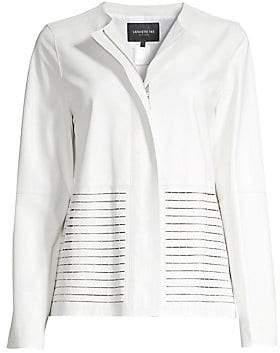 Lafayette 148 New York Women's Rayen Laser-Cut Leather Jacket