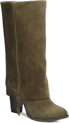 INC International Concepts Johannan Tall Cuff Boots, Only at Macy's $159.50 thestylecure.com