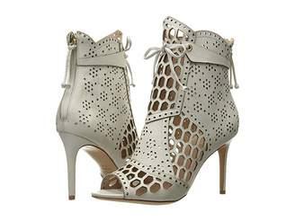 Rachel Zoe Julie Peep-Toe Bootie Women's Dress Lace-up Boots