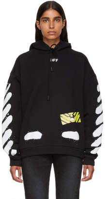 Off-White Black and White Spray Painted Hoodie