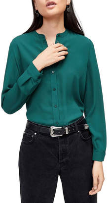 Warehouse Button Back Blouse