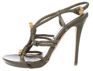 Alexander McQueen Leather Embellished Sandals