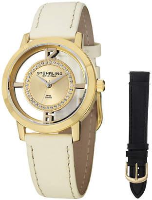 Stuhrling Original Womens White Strap Watch-Sp14653