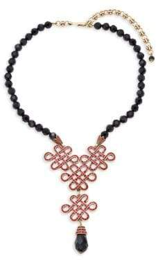 Heidi Daus Jet Chinoise Knot Necklace