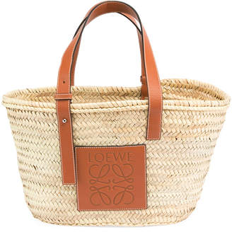 Loewe Medium Raffia Basket Tote Bag