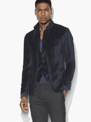John Varvatos Multi-Button Velvet Jacket