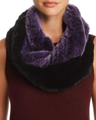 Maximilian Furs Knit Rabbit Fur Infinity Scarf - 100% Exclusive