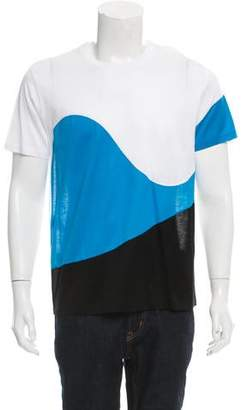 Calvin Klein Collection Crew Neck Colorblock T-Shirt w/ Tags