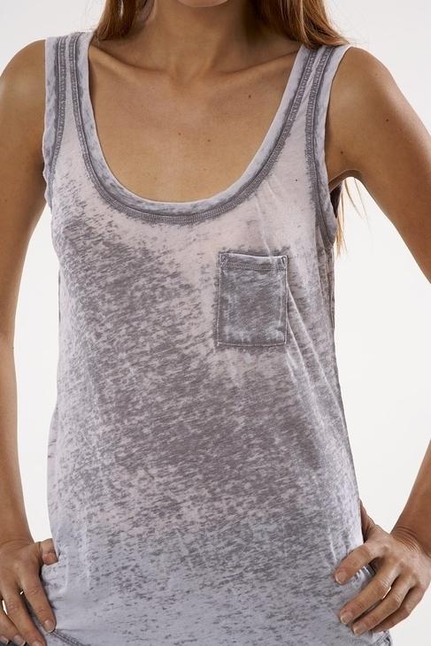 Fluxus Burnout Pocket Tank in Grey