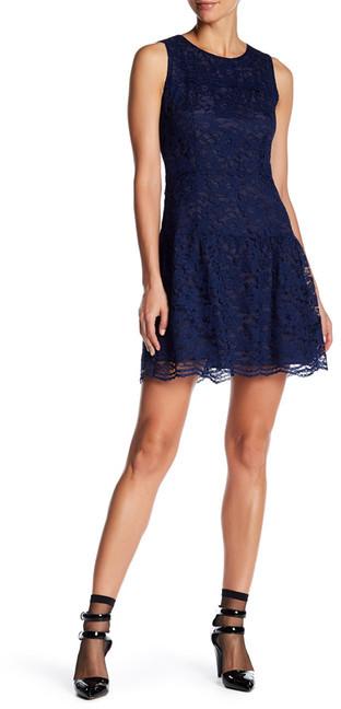 Anna SuiAnna Sui Garden Rose Lace Fit Flare Dress