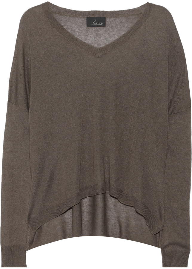Line The Insinuator fine-knit modal and cashmere-blend sweater