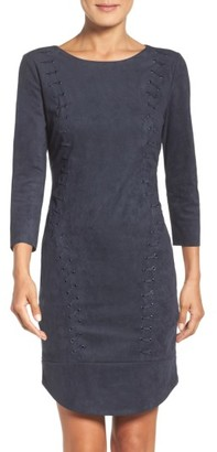 Women's Laundry By Shelli Segal Faux Suede Dress $225 thestylecure.com