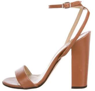 Theory Leather Ankle-Strap Sandals