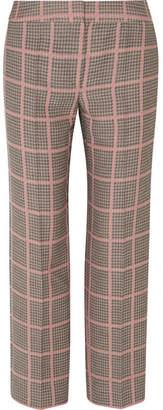 Giorgio Armani Checked Woven Straight-leg Pants - Pink