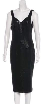 John Galliano Sequin Silk Dress