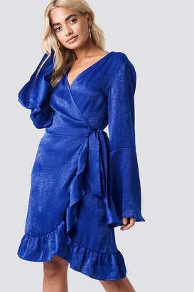 Rut & Circle Rut&Circle Sofia Wrap Frill Dress Cobalt Blue
