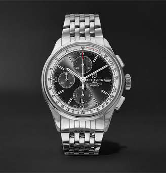 Breitling Premier Chronograph 42mm Stainless Steel Watch, Ref. No. A13315351b1a1 - Black