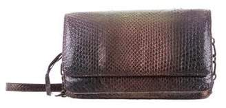 Nancy Gonzalez Iridescent Snakeskin Crossbody Bag