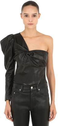 Isabel Marant Noop One Shoulder Leather Top