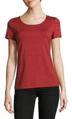 Lafayette 148 New York Solid Scoopneck Cotton-Blend Tee