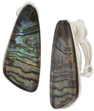 Robert Lee Morris Abalone Clip On Earrings