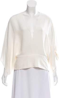 Narciso Rodriguez Oversize Silk Top