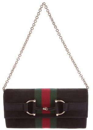 Gucci Gucci Web Horsebit Wallet On Chain