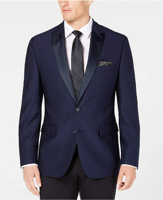 Ryan Seacrest Distinction Men Modern-Fit Stretch Bright Navy Jacquard Dinner Jacket