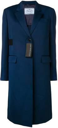 Prada patch detail mid-length coat