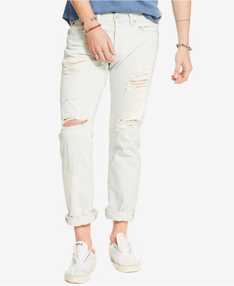 Denim & Supply Ralph Lauren Men's Slim-Fit Destructed Ripped Jeans $125 thestylecure.com