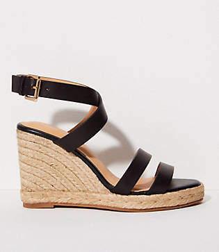 LOFT Criss Cross Espadrille Wedge Sandals