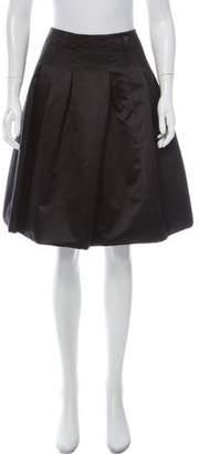 Chanel Pleated Silk-Blend Skirt