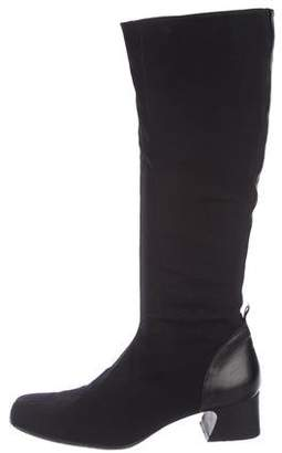 Donald J Pliner Square-Toe Knee-High Boots