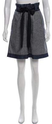 Miu Miu Chambray High-Rise Shorts