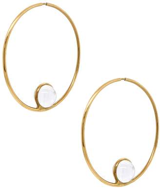 Cyril Studio Large Halo Hoop Earrings - Yellow Gold