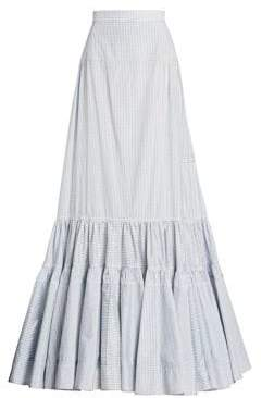 Calvin Klein Grid Check Long Skirt
