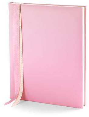 Aspinal of London Deluxe Baby Record Book In Smooth Pink