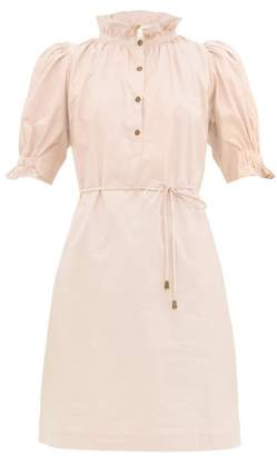 Apiece Apart Sabrina Cotton Poplin Mini Shirt Dress - Womens - Light Pink