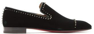 Christian Louboutin Dandeton Studded Velvet Loafers - Mens - Green