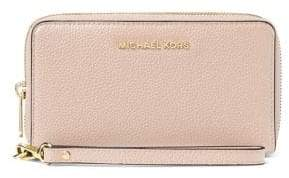 MICHAEL Michael Kors Large Leather Zip-Around Phone Wristlet