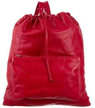 MM6 MAISON MARGIELA MM6 by Maison Martin Margiela Leather Drawstring Backpack